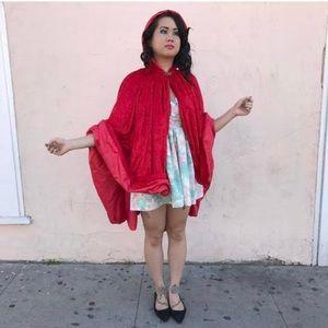 Crushed Velvet Red Hood